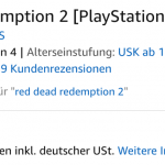 Red Dead Redemption 2- Bei Amazon für 59,98 Euro